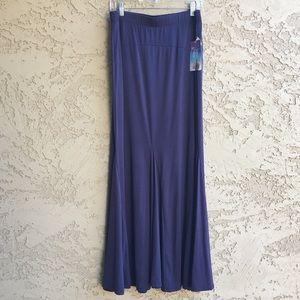 MAXI Skirt Long Ankle Length Navy Blue NWT sz XL